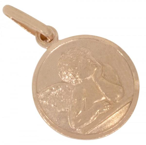 Schutzengel Anhänger Silber 925 rosévergoldet