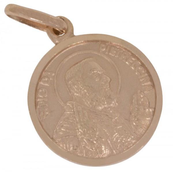 Pater Pio, Anhänger Silber 925 rosévergoldet