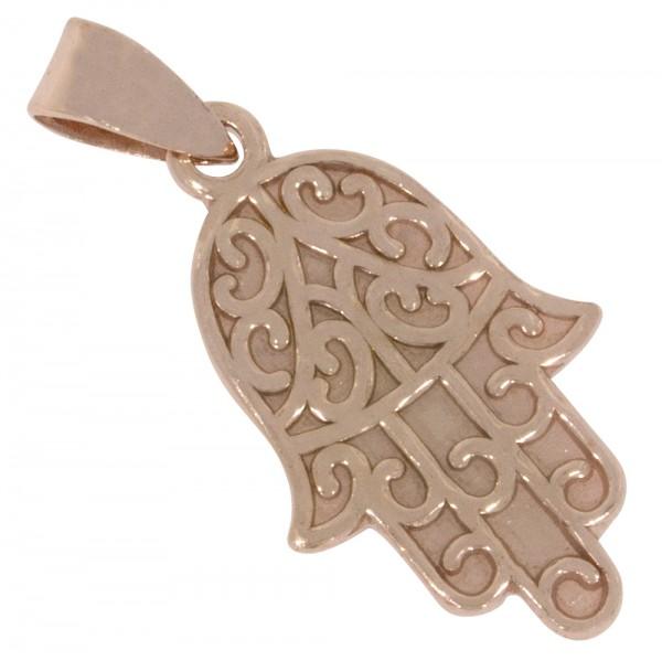 Hand der Fatima, Anhänger Silber 925 rosévergoldet