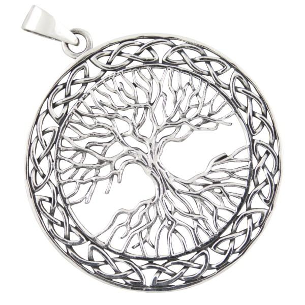 Lebensbaum Yggdrasil großer Anhänger Silber 925