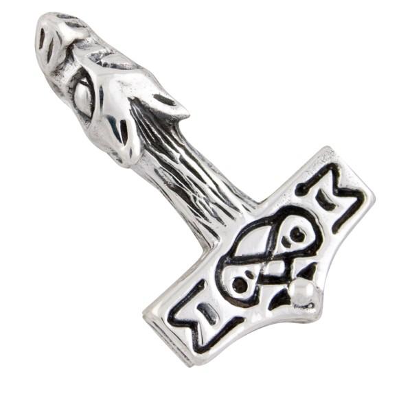 Thorshammer, kleiner Anhänger Silber 925