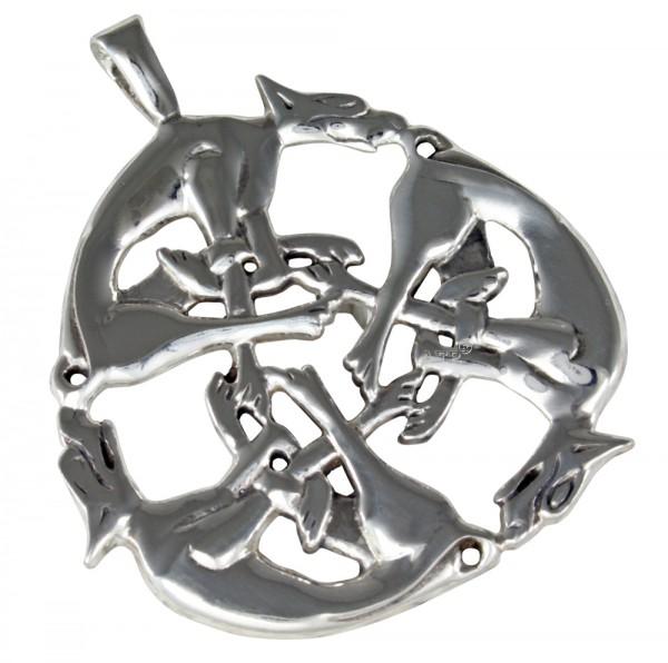 Keltische Hunde, Anhänger Silber 925