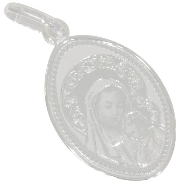 Heilige Maria mit Christuskind, Madonna Anhänger Silber 925