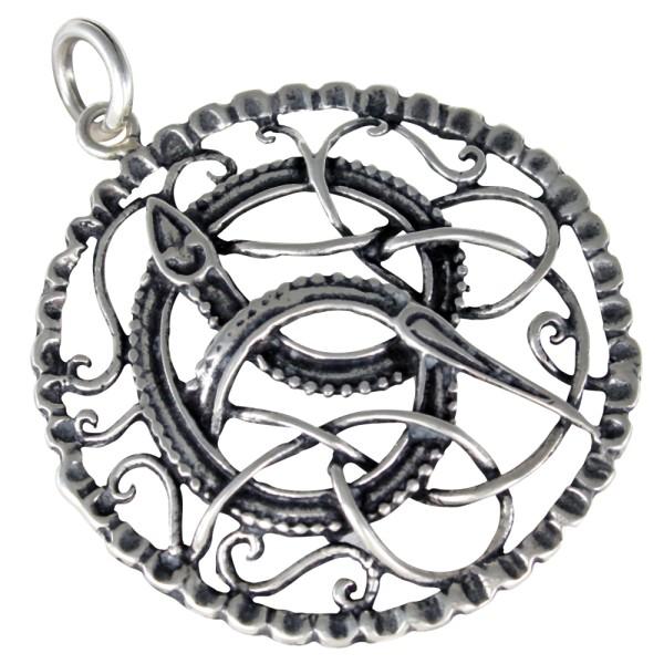 Midgardschlange Anhänger Silber 925