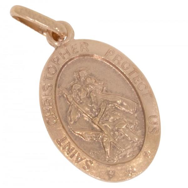 Schutzpatron Christophorus, Anhänger Silber 925 rosévergoldet