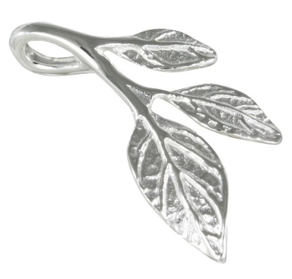 Blatt Anhänger Silber 925