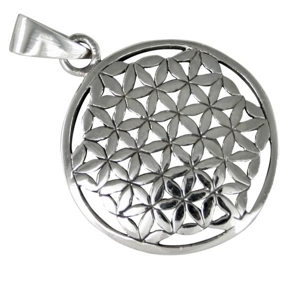 02 Blume des Lebens, Anhänger Silber 925