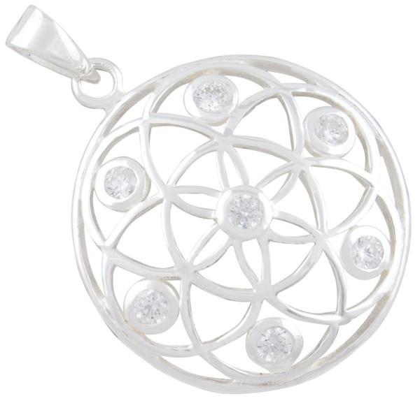 Mandala Anhänger Silber 925